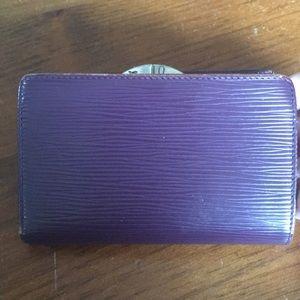 LV French plum epi wallet